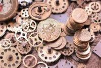 bitcoin, gears, time